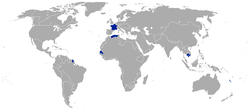 The French Empire in 1867.