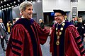 Secretary Kerry Greets Northeastern University President Aoun Before Delivering the Commencement Address for Northeastern's Class of 2016 in Boston (26758581322).jpg