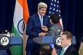 Secretary Kerry Shakes Hands With Secretary Pritzker Following Their Remarks at the U.S.-India Strategic and Commercial Dialogue Joint Press Conference (21443345350).jpg
