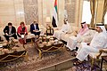 Secretary Kerry Sits With United Arab Emirates Crown Prince Mohammed bid Zayed Before a Bilateral Meeting in the Mina Palace (23236648335).jpg