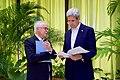 Secretary Kerry Speaks With U.S. Special Envoy for the Colombian Peace Process Aronson in Havana, Cuba (25945800296).jpg