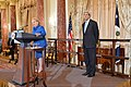 Secretary Kerry Watches Former Secretary Albright Give Remarks (27214641363).jpg