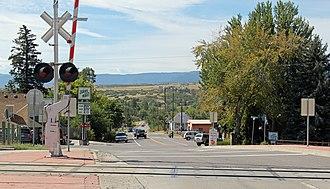 Sedalia, Colorado - Looking South on Manhart Street in Sedalia