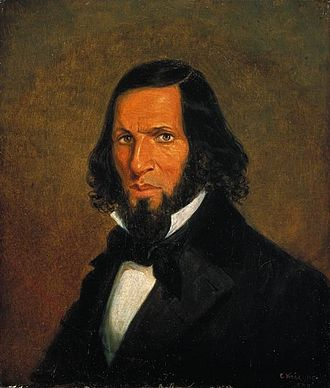 Cornelius Krieghoff - Image: Self portrait by Cornelius Krieghoff, 1855 , National Gallery of Canada