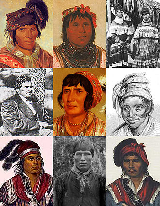 Indigenous peoples of the Southeastern Woodlands - Seminole portraits