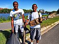 September 15, 2012 Howard University students found muffler during Anacostia River cleanup (8165233360).jpg