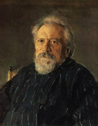 Nikolai Leskov - Portrait of Leskov by Valentin Serov, 1894