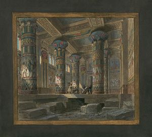 Set design by Philippe Chaperon for Act4 sc2 of Aida by Verdi 1880 Paris.jpg