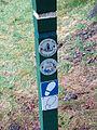 Severn Way and Wye Valley Walk combined waymark - geograph.org.uk - 1122549.jpg