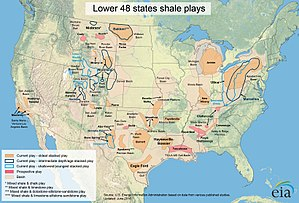 Natural gas in the United States - Discovered shale gas deposits   June 2016