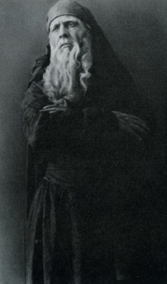 Khovanshchina - Fyodor Shalyapin as Dosifey (Russian Private Opera (Mamontov's Private Russian Opera in Moscow), Moscow, 1897)