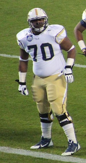Shaq Mason - Mason with Georgia Tech in 2014