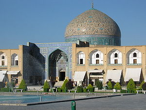 Mosque - The Sheikh Lotfollah Mosque standing on the eastern side of Naghsh-i Jahan Square, Isfahan, Iran