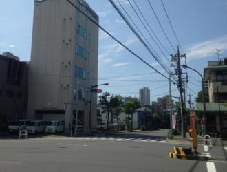 Shiomi, Tokyo - An intersection in Shiomi