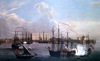 Mumbai - Ships in Bombay Harbour (c. 1731). Bombay emerged as a significant trading town during the mid-18th century.