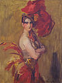 Show-girl (La Cocotte) at Scala Theatre, The Hague, by Isaac Israels.jpg