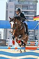 Show Jumping - horse jumping over hurdle with boy riding.jpg