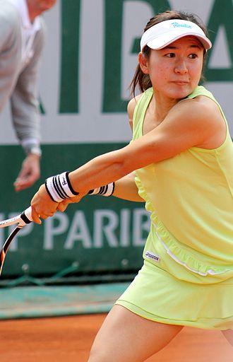 Shuko Aoyama - Shuko Aoyama playing at Roland Garros 2013