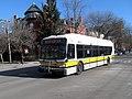Shuttle bus on Beacon Street at Strathmore Road, January 2016.JPG