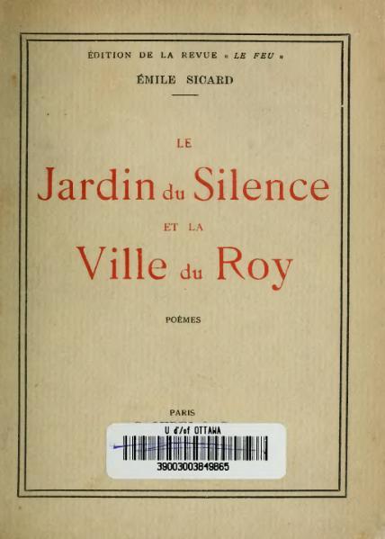 File sicard le jardin du silence et la ville du roy for A la verticale du jardin grenoble