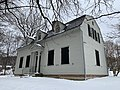 Side view of Charles Ives' birthplace in winter. Danbury, CT. Part of the Danbury Museum.jpg
