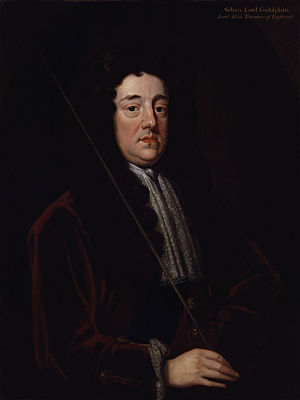 First Parliament of Great Britain - Image: Sidney Godolphin, 1st Earl of Godolphin by Sir Godfrey Kneller, Bt