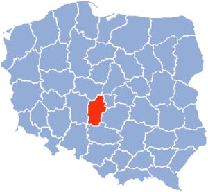 Sieradz Voivodeship - Sieradz Voivodeship 1975-1998