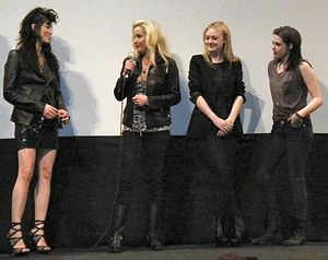 Queens of Noise - Floria Sigismondi, Cherie Currie, Dakota Fanning and Kristen Stewart at the SXSW 2010 screening of the film The Runaways.