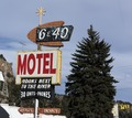 Sign for the 6 & 40 Motel in Idaho Springs, Colorado LCCN2015633047.tif