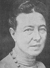 Simone de Beauvoir 1968.