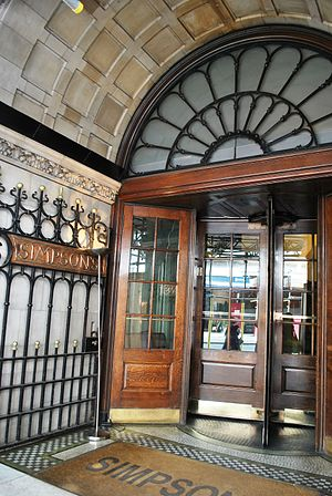Simpson's-in-the-Strand - Entrance to Simpson's-in-the-Strand
