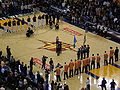 Singing of national anthem at Phoenix at Golden State 3-15-09.JPG