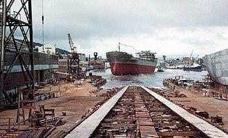 Bergen Mekaniske Verksted - Launch of MS Taranger in 1969.
