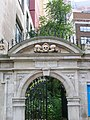 Skulls above the gate to St Olave's Church, Seething Lane EC3 - geograph.org.uk - 1272457.jpg