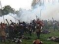 Slag om Grolle 2008-2 - Staatse troepen bestormen de Spaanse stellingen.jpg