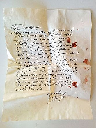 Sleep No More (2011 play) - A prop letter from Macbeth to Lady Macbeth