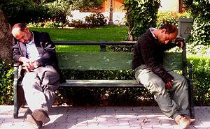 Sleepy men in Tehran, Iran