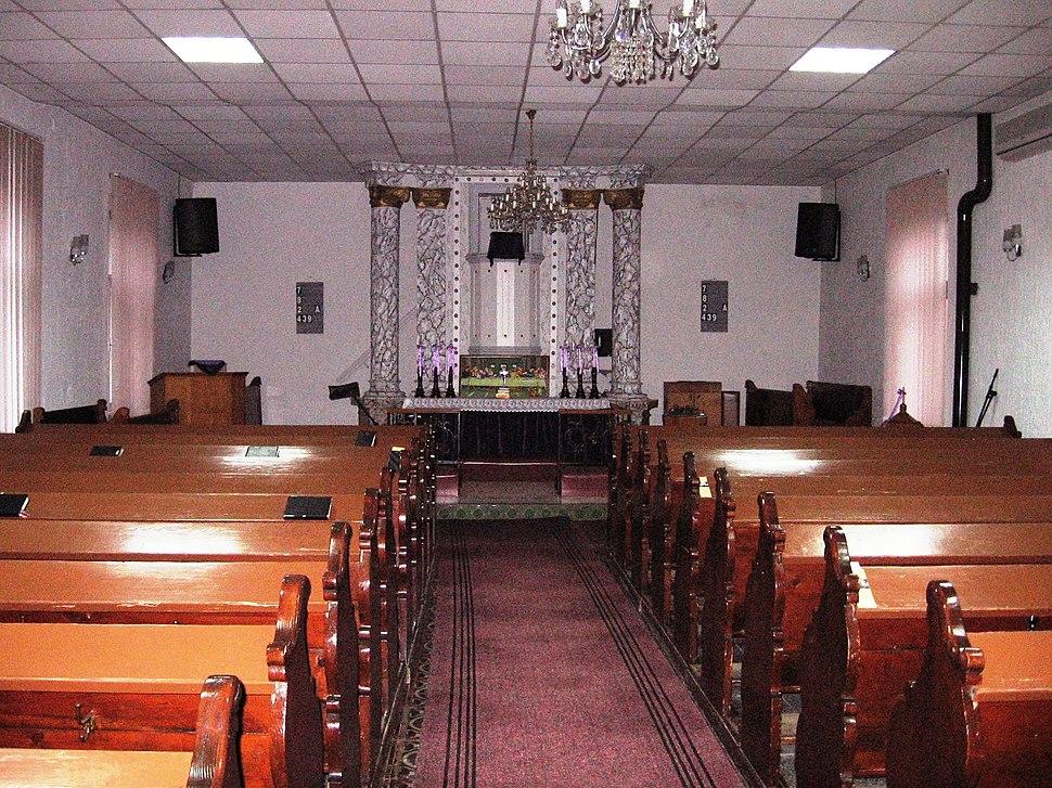 Slovak evangelical church interior Šid