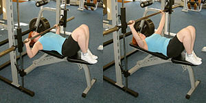 Smith machine bench press.