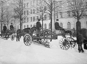 Snowplow - Snowplows in Sweden in 1909