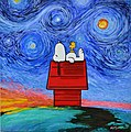 Snoopy and Woodstock in the Starry Night With Sunset End.jpg
