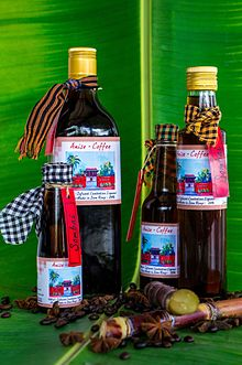 bottles of sombai liqueur anise coffee
