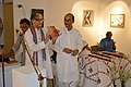 Somendranath Bandyopadhyay Releasing Booklet - Biswatosh Sengupta Solo Exhibition Inauguration - Kolkata 2015-07-28 3245.JPG