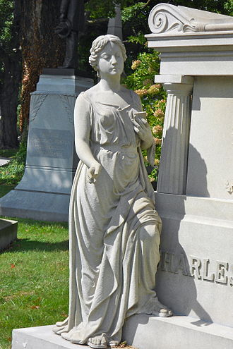 West Laurel Hill Cemetery - Figure on Soulas tomb