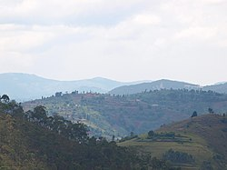 Landscape near the Burundi border