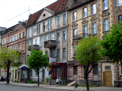 The old town of Sovetsk, with German-era buildings
