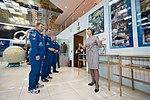 Soyuz MS-10 crew during a tour of the Baikonur Cosmodrome Museum (3).jpg