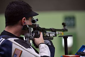 Spc. Daniel Lowe 34th in Rio Olympic Games air rifle (28849672565).jpg