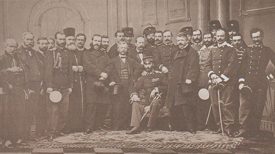 Srpska delegacija sa knezom Mihailom, Carigrad 1867. god