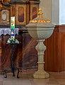 St. Andreas - Neudingen - Baptismal font.jpg